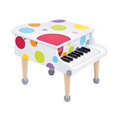 "Grand Piano. When I was little, my sister and I had one of these that we finally got the top off so we could get closer to the ""how"". Ours was green so not this cool but had real piano keys."
