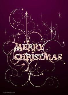 #card #christmas #purple #originalfont #swashes