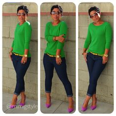 Fashion, Lifestyle, and DIY: Color Me Green! How to Wear Bold Colors cuteoutfits Mode Outfits, Chic Outfits, Fall Outfits, Fashion Outfits, Womens Fashion, Work Casual, Casual Chic, Casual Looks, Spring Summer Fashion