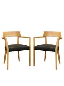 Light Wood Modern Dining Chairs (Set of 2)