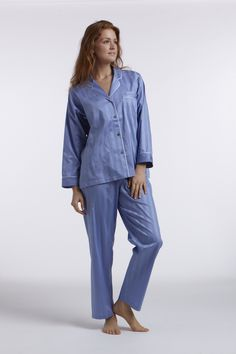4c1d10d43 P.jamas - Tina in French Blue pajamas French Blue