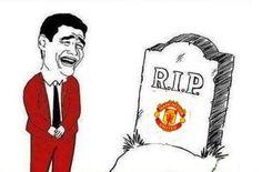 R.I.P. czyli niech Man Utd odpoczywa w pokoju • Manchester United odpadł z tegorocznej Ligi Mistrzów • Wejdź i zobacz śmieszne foto >> #football #soccer #sports #pilkanozna