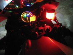 1 Red LED Accent Motorcycle Neon Glow Custom Night Bike Brake Reservoir Light RR
