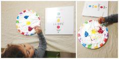 Jugamos con los cuentos de Hervé Tullet, pintar con espuma y colorante