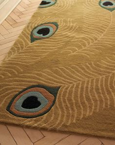 Peacock rug from Neiman Marcus