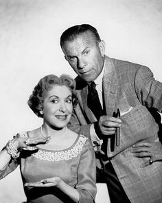 """""""The George Burns-Gracie Allen Show"""" George Burns and Gracie Allen… Hollywood Glamour, Hollywood Stars, Classic Hollywood, Female Actresses, Actors & Actresses, I Movie, Movie Stars, George Burns, Donna Reed"""