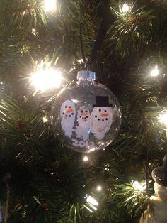 Family thumbprint ornament