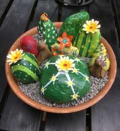 Steine bemalt Planter Pots, Painting On Stones, Plant Pots