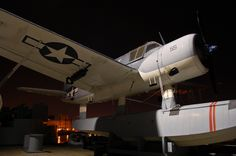 Night Time View Of WWII Kingfisher On BB55