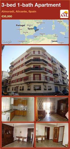 Apartment for Sale in Almoradi, Alicante, Spain with 3 bedrooms, 1 bathroom - A Spanish Life Apartments For Sale, Separating Rooms, Alicante Spain, Large Bathrooms, Seville, Casablanca, Lisbon, Living Area, Sevilla