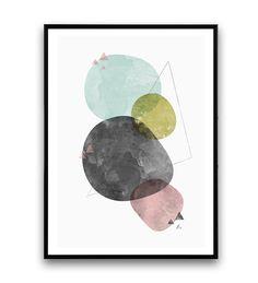 Aquarelle abstraite minimaliste d'impression par Wallzilla sur Etsy