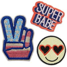 Bag Sticker Patches (20 BRL) ❤ liked on Polyvore featuring accessories