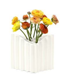 Terrain Vase. The segments of this vase make flower arranging foolproof.