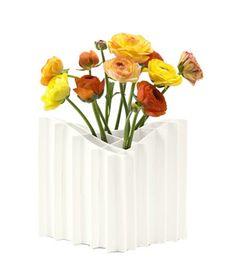 Terrain Vase. The segments of this vase make flower arranging foolproof.