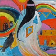 Rainbow Spirit with Raven by Marilu Norden