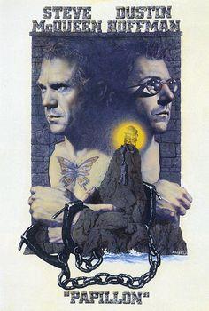 """Le film """"Papillon"""" avec Steeve Mc Queen et Dustin Hoffman au bagne de Cayenne, RDV ce soir sur @France3tv #aventure #TV"""