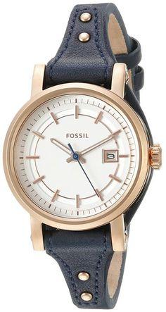 Fossil Women's Original Boyfriend ES3909 Blue Leather Quartz Watch