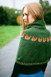 Ravelry: Foxy Cape pattern by Vicki Brown