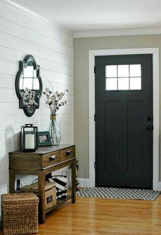 90 Awesome Front Door Farmhouse Entrance Decor Ideas (105)