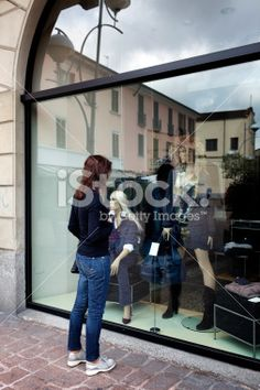 Woman Need a new Clothing. Color Image Royalty Free Stock Photo