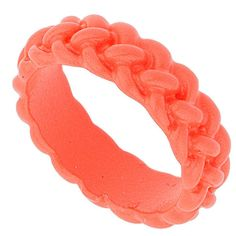 TOPSHOP Coral Twist Band Ring ($10) via Polyvore