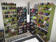 awesome shoe organization