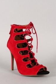 Anne Michelle Rapture-27 Suede Lace Up Gladiator Stiletto Heel