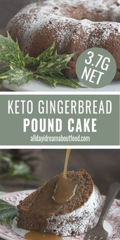 A tender low carb cream cheese pound cake with delicious gingerbread spices. Why isn't gingerbread a year-long flavor, I ask you? This keto cake recipe is ideal any time of year. Low Carb Sweets, Low Carb Desserts, Dessert Recipes, Breakfast Recipes, Keto Regime, Keto Cream, Keto Holiday, Keto Cake, Gingerbread Cake