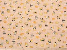 菓子パン+パンダ柄コットンダブルガーゼプリント(ピンク)   110cm巾 綿100%   - そーいんぐ・すていしょんコミニカ