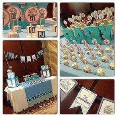 Great baby shower decoration display.  #babyshower #babyshowerdecorations