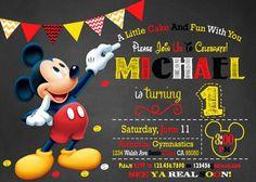 Invitación de Mickey Mouse Mickey invitación invitación de