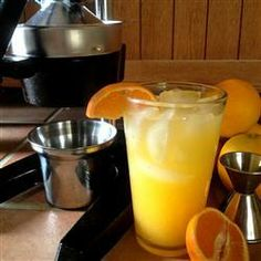 "Orange Crush! Fresh Squeezed Orange and Vodka Cocktail | ""It's vitamin C with a smile! This beverage is yummy any time of year!"""