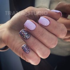Nails purple glitter acrylic gel Perfect Nails, Gorgeous Nails, Pretty Nails, French Acrylic Nails, Cute Acrylic Nails, Acrylic Gel, Hot Nails, Hair And Nails, Minimalist Nails