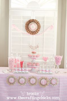 A Fabulous & Fancy 5th Birthday Party {Candy Buffet, Lollies and Pennants, oh my!}- Inspiration for the Bridal Shower I am throwing.