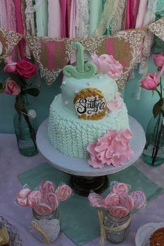 Shabby Chic birthday cake