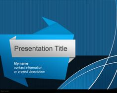 Origami PowerPoint template is a free PPT template design for PowerPoint that you can download and use for your origami presentations in Microsoft PowerPoint