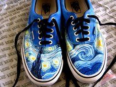 Custom painted vans shoes 44