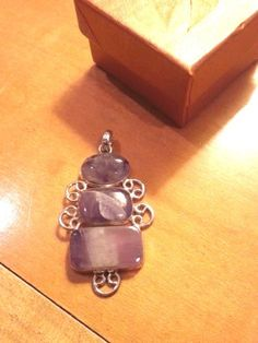 PENDANT New Filigreed AMEYTHYST .925 STERLING SILVER 2in See Chains on my site #Pendant