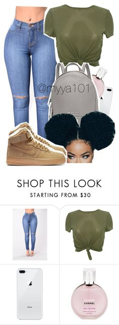 """""""Untitled #1135"""" by myya101 on Polyvore featuring Chanel, Michael Kors and NIKE"""