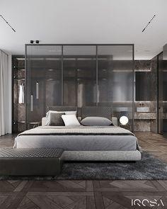 digest interior design of the week 1 - Graphic Design Inspiration Hotel Room Design, Luxury Bedroom Design, Bedroom Closet Design, Master Bedroom Design, Home Bedroom, Home Interior Design, Morden Bedroom, Casa Loft, Bedroom Layouts