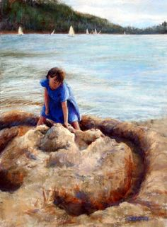 Age of Innocence by Mary Giacomini Beach Paintings, Over The Years, Mary, Wall Art, Artwork, Travel, Work Of Art, Viajes, Auguste Rodin Artwork