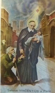 Santino religioso san Vincenzo de Paoli