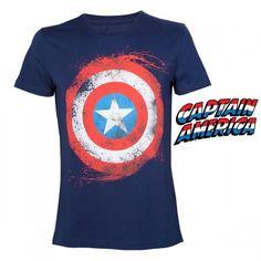 T-Shirt Logo Captain America Marvel. Kas Design, Distributeurs de produits originaux