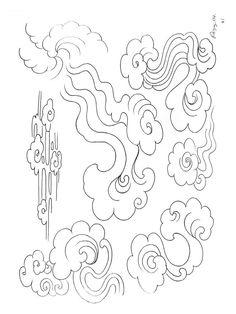 1 000 Oriental Tattoo designs Tibet Art, Cloud Illustration, Cloud Tattoo, Paradise Tattoo, Cloud Drawing, Oriental Tattoo, Buddha Art, Stencil Templates, Calligraphy Art