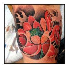 . Lotus Tattoo, Leaf Tattoos, Tattoo Inspiration, Skull, Lotus Flower Tattoos, Skulls, Sugar Skull, Lotus Tat