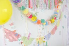 Heart Handmade UK: New Years Eve Inspiration A Party with Ebony Bizys  washi garland