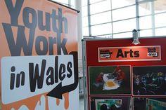 Youth Work in Wales Branding & Banners by Kyomi Martyn, via Behance