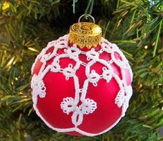 Tatted ornament.