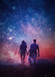 Set up your own couple goals and achieve them step by step, hand in hand! Couple Wallpaper, Love Wallpaper, Galaxy Wallpaper, Cute Wallpaper Backgrounds, Cute Wallpapers, Galaxy Drawings, Silhouette Painting, Galaxy Painting, Romantic Photos
