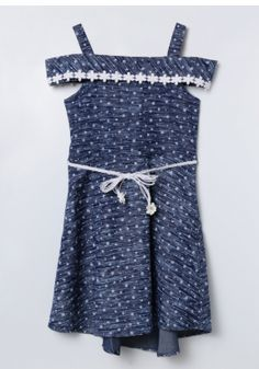 kaiCran Toddler Infant Baby Girls fassion Dress Solid Princess Denim Sleeveless Dresses Clothes